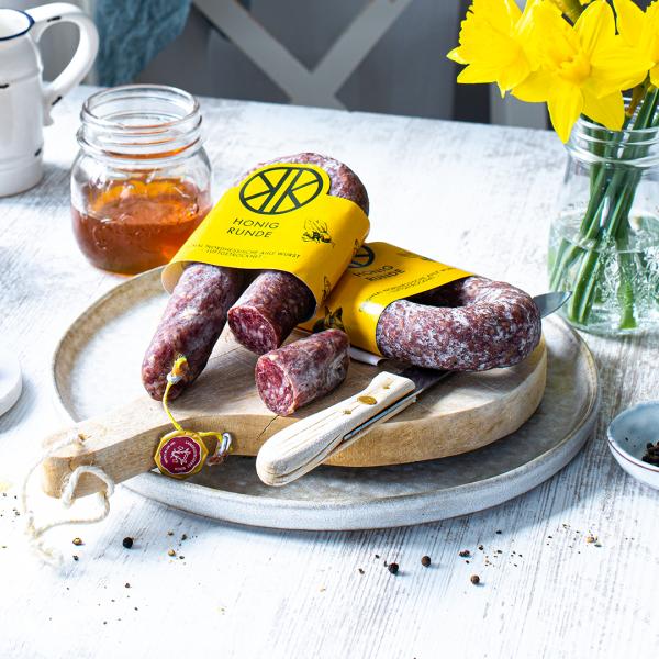 Honig-Runde – Ahle Wurst mit Kasseler Stadthonig, naturgereift