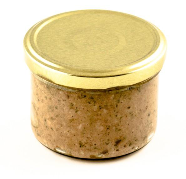 Ardenner Paté – Delikatess-Streichleberwurst mit frischen Kräutern 160g-Glas